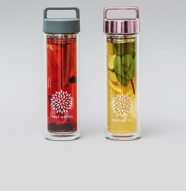 Die praktische 2go Bottle für Teegenuss unterwegs